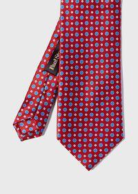 Silk Micro Medallion Tie, thumbnail 1