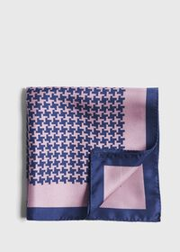 Two Color Houndstooth Pocket Square, thumbnail 1