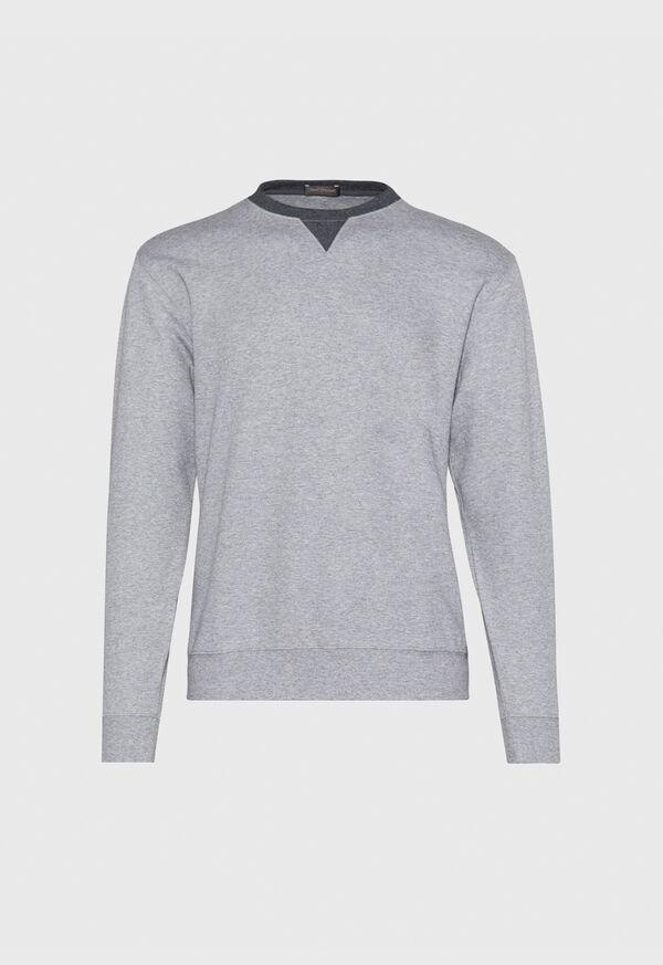 Pima Cotton Crewneck Sweatshirt, image 1