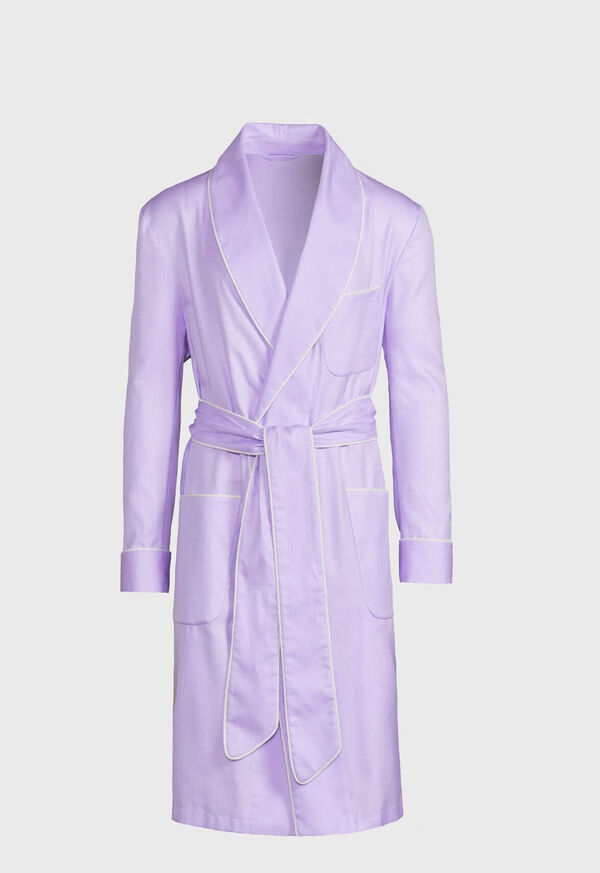 Cotton Herringbone Robe, image 1