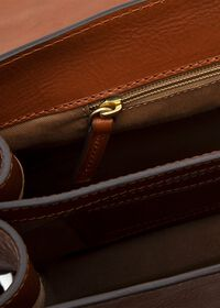 Bridle Leather Briefcase with Shoulder Strap, thumbnail 2