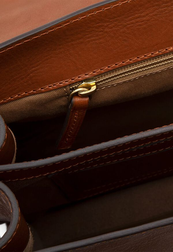Bridle Leather Briefcase with Shoulder Strap, image 2