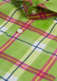 Lime Green Plaid Shirt, thumbnail 2
