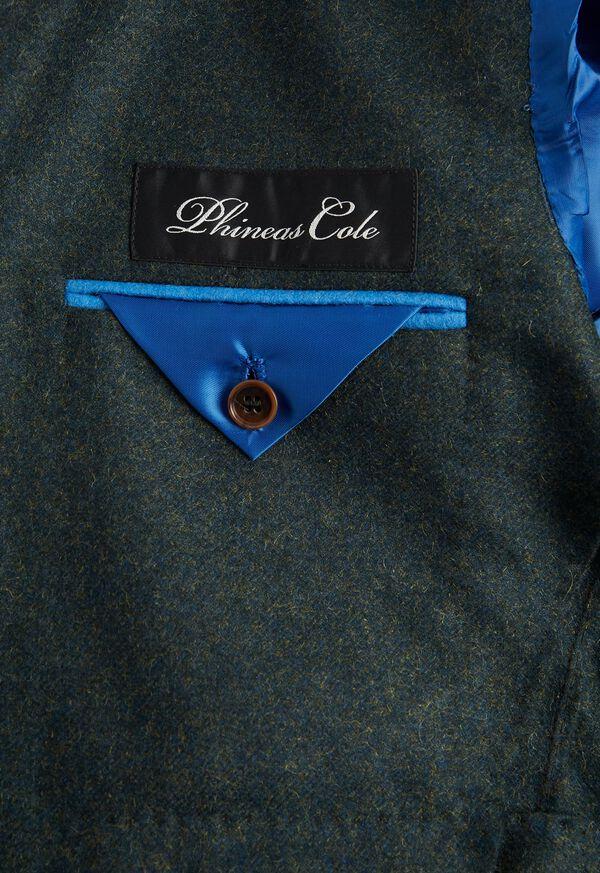 Olive Cashmere Blend Sport Jacket, image 3