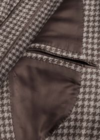 Taupe Houndstooth Sport Jacket, thumbnail 3