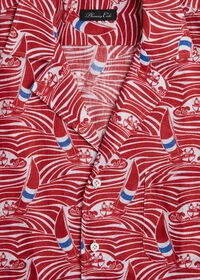 Sailboat Wave Print Shirt, thumbnail 2