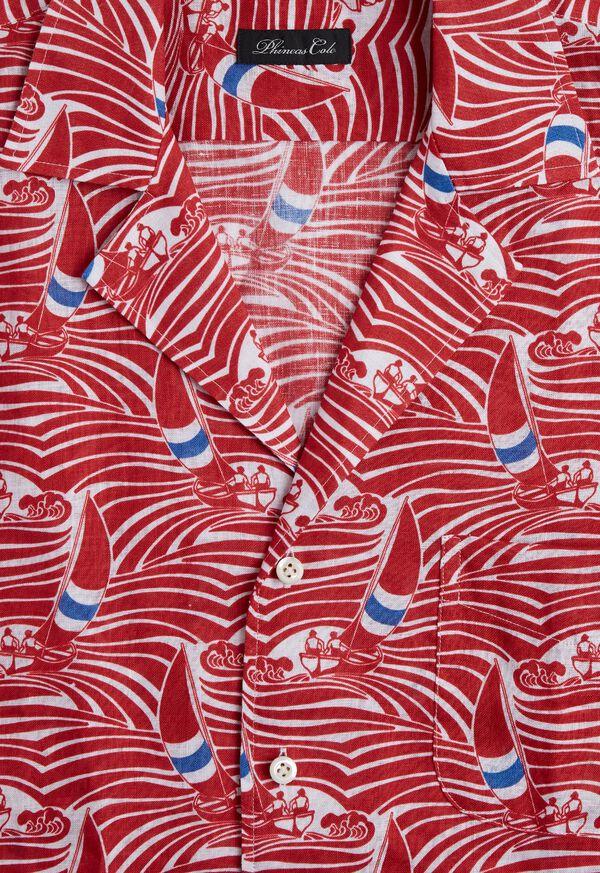Sailboat Wave Print Shirt, image 2