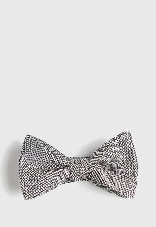 Silk Glenn Plaid Bow Tie, image 1
