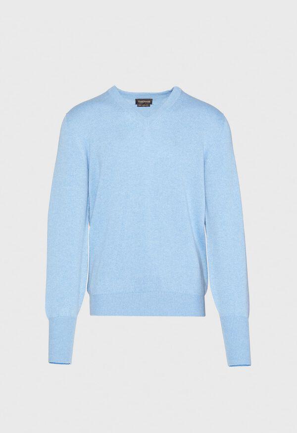 Scottish Cashmere V-Neck Sweater, image 17