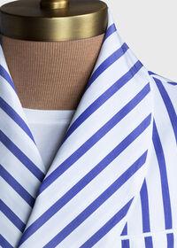 Awning Stripe Cotton Robe, thumbnail 4