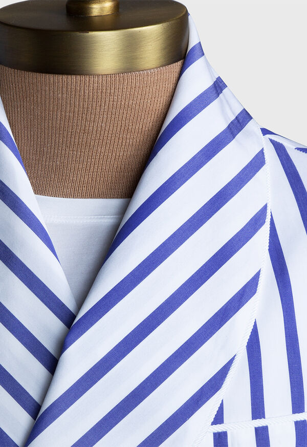 Awning Stripe Cotton Robe, image 4