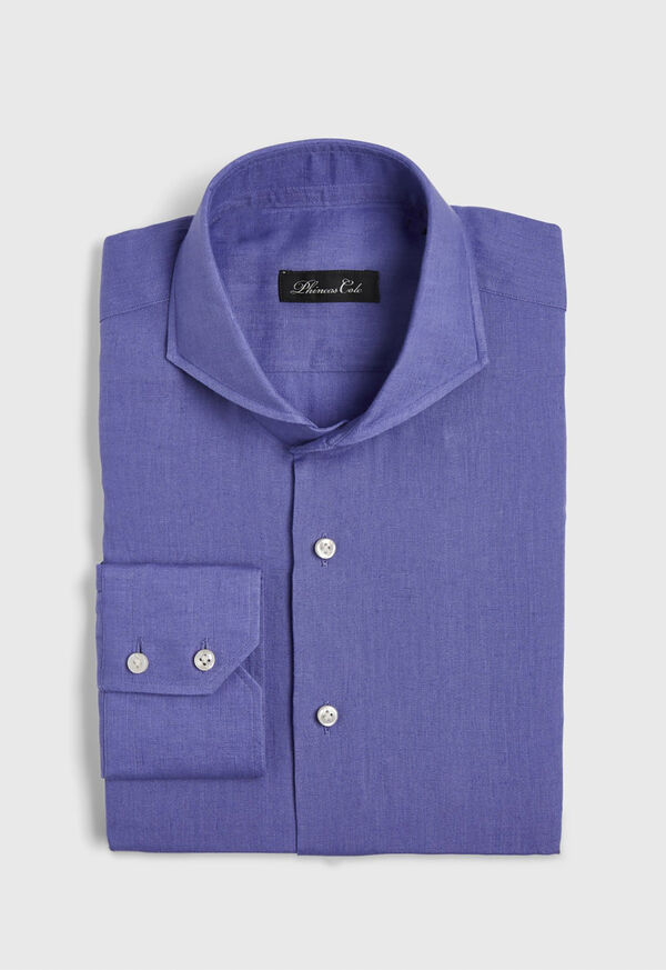 Washed Linen Sport Shirt, image 1