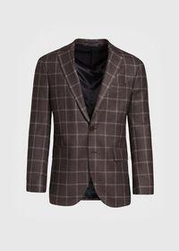 Wool Deco Windowpane Sport Jacket, thumbnail 1