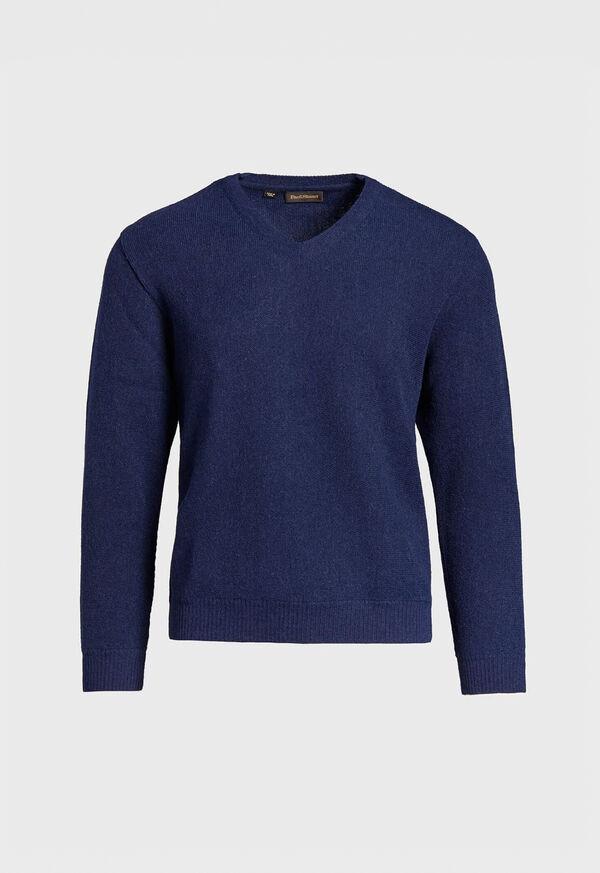 Alpaca Links V-Neck Sweater, image 1