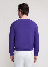 Washed Rice Stitch V-Neck Sweater, thumbnail 3