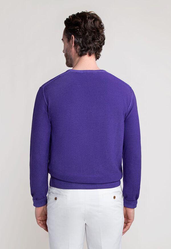 Washed Rice Stitch V-Neck Sweater, image 3
