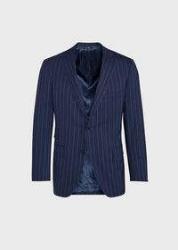 Navy and White Stripe Travel Suit, thumbnail 3