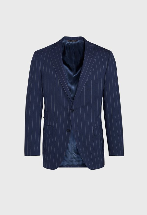 Navy and White Stripe Travel Suit, image 3