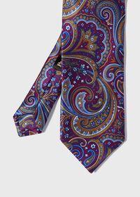 Paisley Print Satin Tie, thumbnail 1