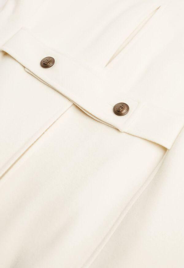 Long Wool Blend Ivory Peacoat, image 4