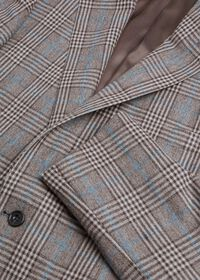 Phillip Fit Mink Plaid Wool Suit, thumbnail 3