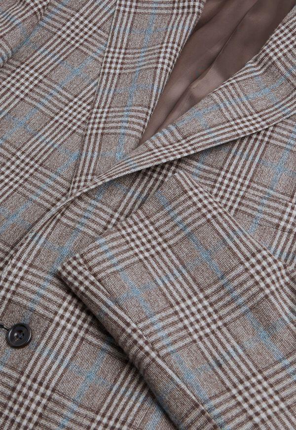 Phillip Fit Mink Plaid Wool Suit, image 3