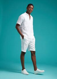 Linen Drawstring Shorts, thumbnail 3