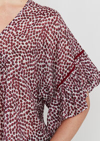 Butterfly Sleeve Floral Blouse, thumbnail 3