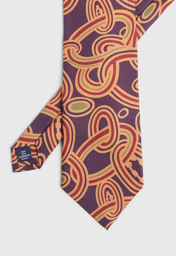 Oval Deco Print Silk Tie, image 1