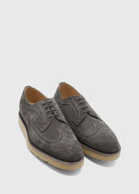 Monaco Suede Wingtip Lace-Up, thumbnail 3