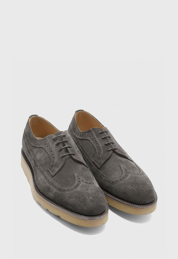 Monaco Suede Wingtip Lace-Up, image 3