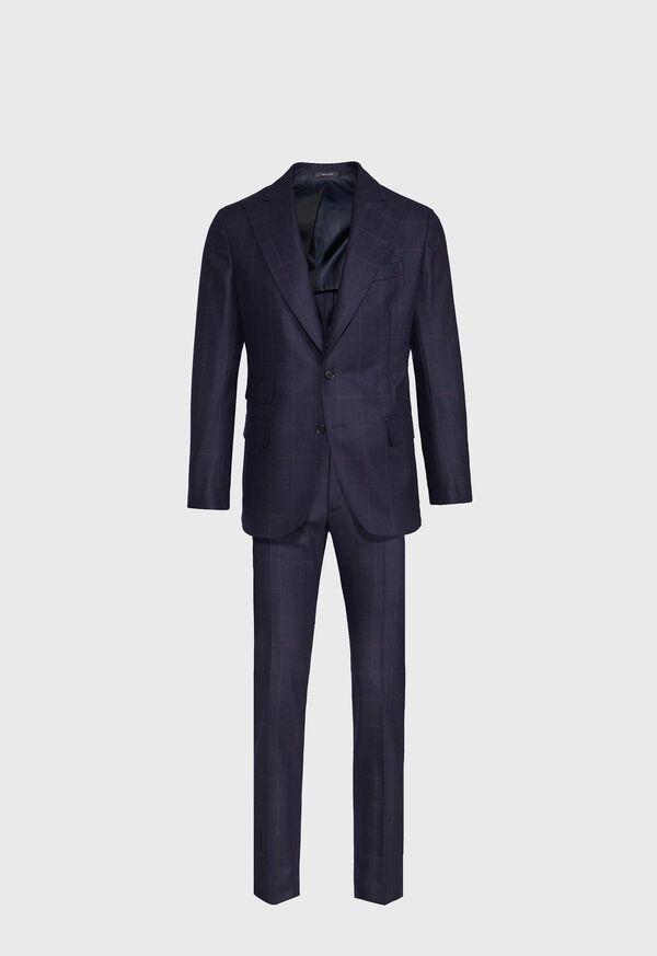 Navy and Rust Windowpane Suit, image 1
