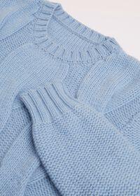 Cashmere Blend Cable Knit Crewneck, thumbnail 2