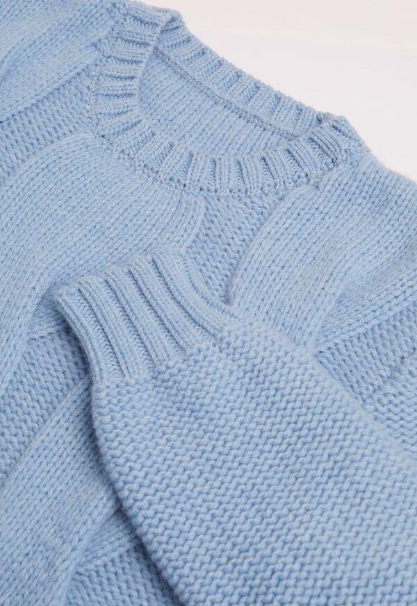 Cashmere Blend Cable Knit Crewneck, image 2