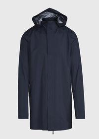 Navy Hooded Waterproof Jacket, thumbnail 1