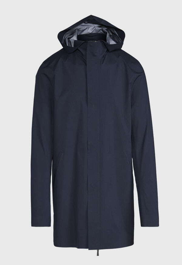 Navy Hooded Waterproof Jacket, image 1