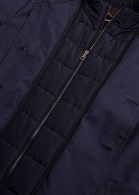 Microfiber Car Coat with Faux Vest, thumbnail 4