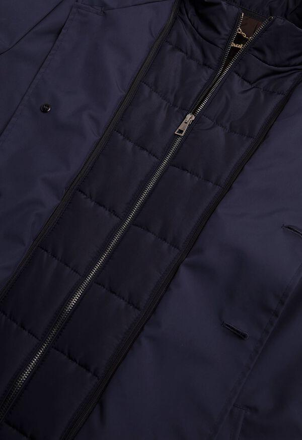 Microfiber Car Coat with Faux Vest, image 4