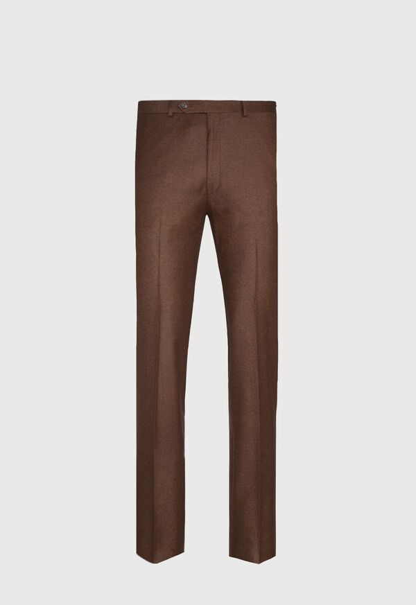 Solid Brown Flannel Pant, image 1