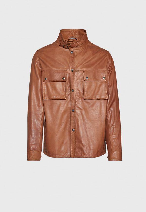 Solid Brown Napa Shirt Jacket, image 1