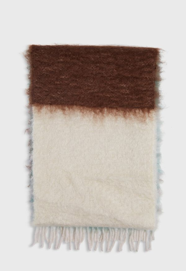 Colorblock Mohair Scarf, image 4