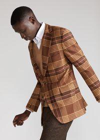 Soft Shoulder Wool Blend Plaid Sport Jacket, thumbnail 5