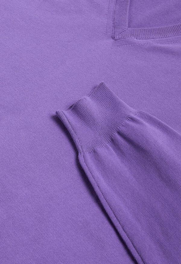 Cotton V- Neck Sweater, image 2
