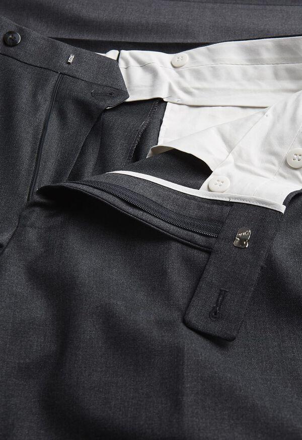 Super 110s Wool Plain Front Trouser, image 2