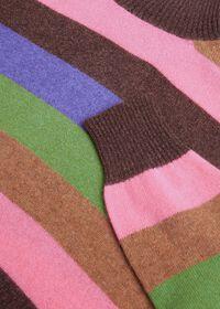 Cashmere Multi-Stripe Turtleneck Sweater, thumbnail 2