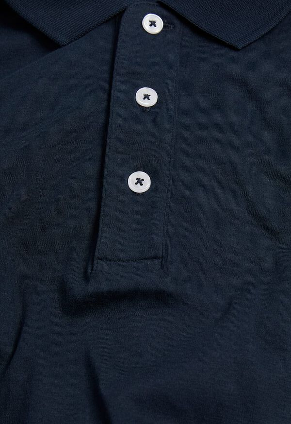 Pima Cotton Interlock Polo, image 2