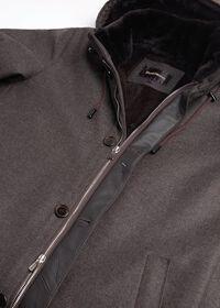 Fur Hooded Parka Coat, thumbnail 5