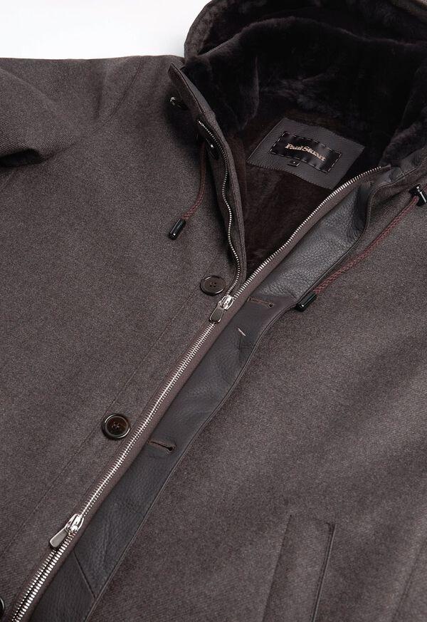 Fur Hooded Parka Coat, image 5