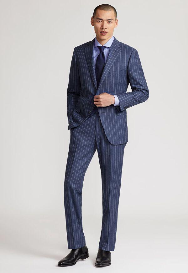 Paul Fit Chalk Stripe Super 120s Wool Suit, image 2