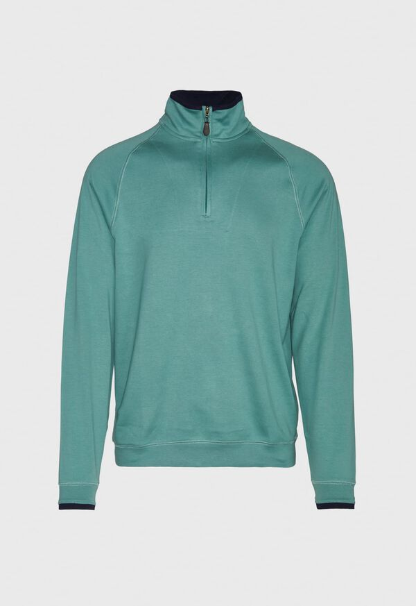 Pima Cotton 1/2 Zip Sweater, image 1